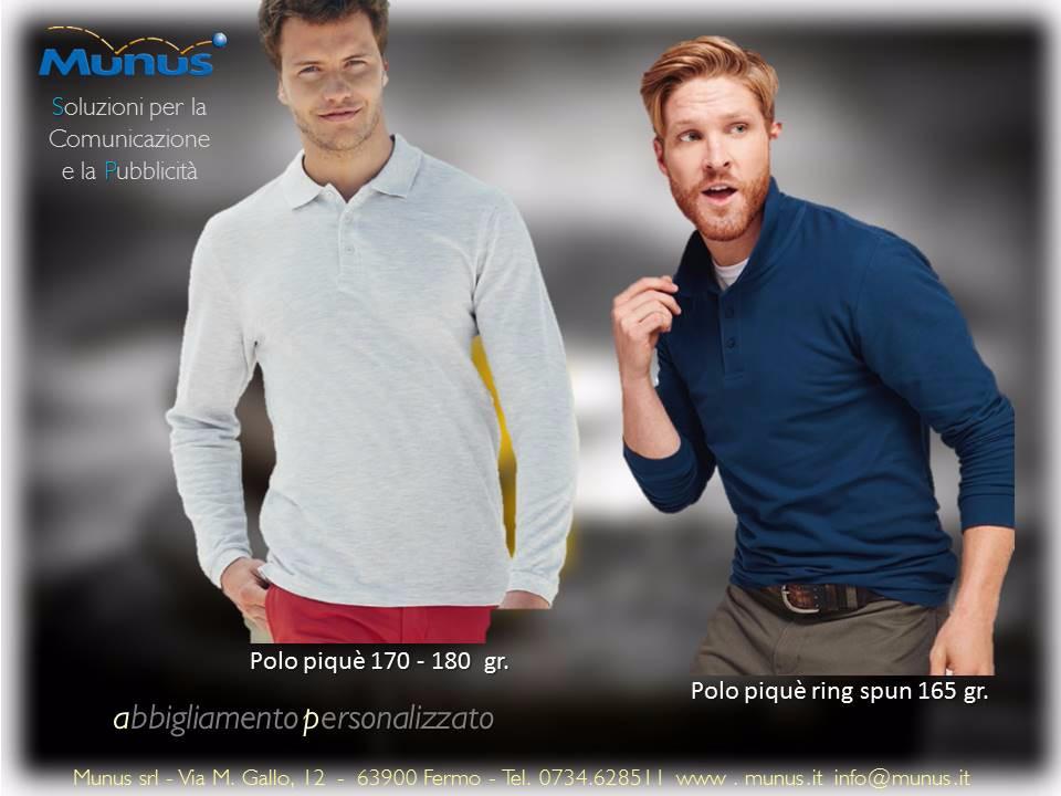 Munus pubblicità fermo – abbigliamento personalizzato polo piquè