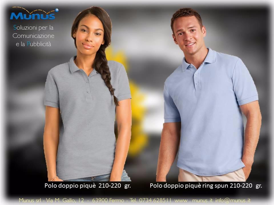 Munus pubblicità fermo – abbigliamento personalizzato polo primavera estate