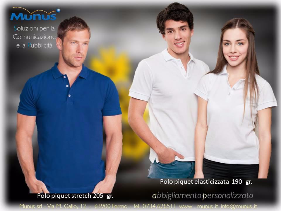 Munus pubblicità fermo – abbigliamento personalizzato polo stretch