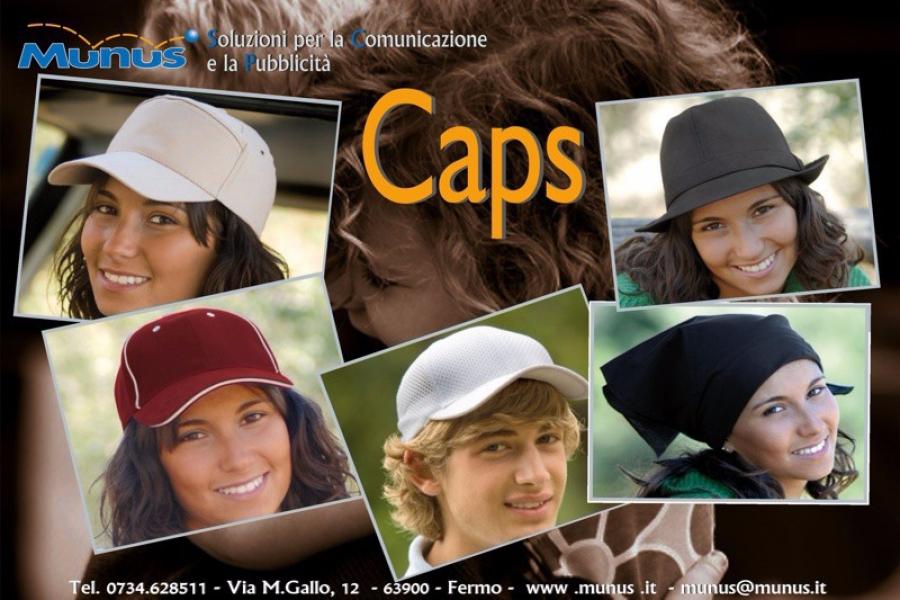 Caps – Munus pubblicità fermo – Gadget – Cappelli personalizzati -2015