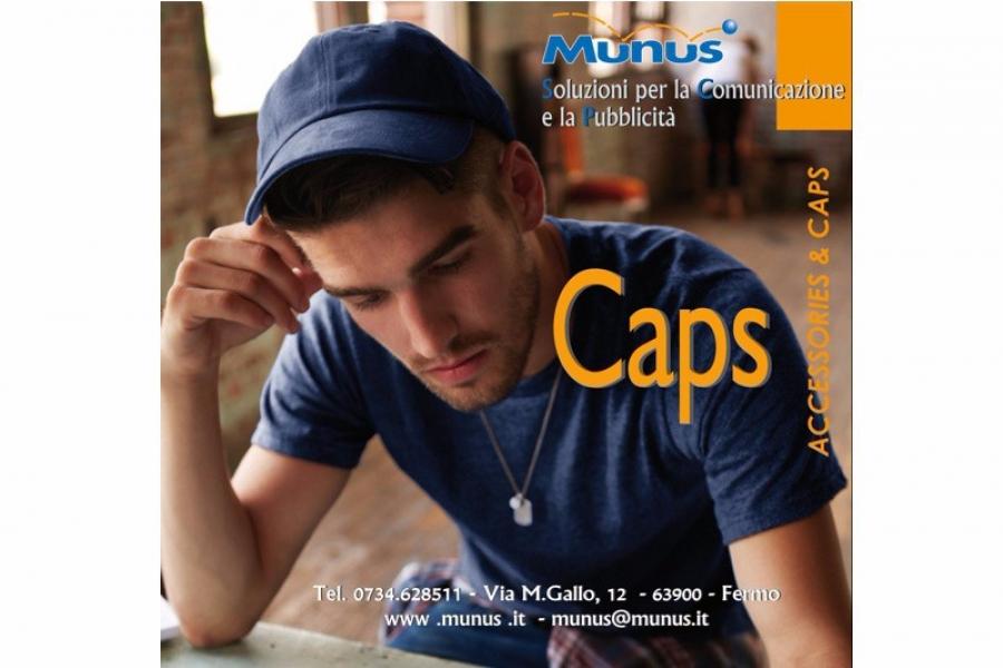 Caps -Munus pubblicità fermo – Gadget Cappelli personalizzati -2015