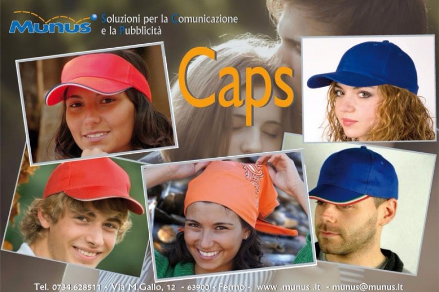 Caps -Munus pubblicità fermo – Gadget e Cappelli personalizzati -2015