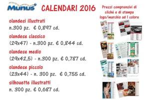 Munus - pubblicità - PROMO CALENDARI NATALE 2016