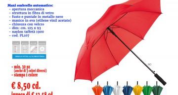 Arriva l'Inverno! Promo Maxi Ombrello personalizzato