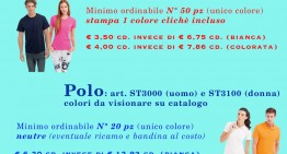 Promozione Polo e T-Shirt Febbraio/Marzo 2018
